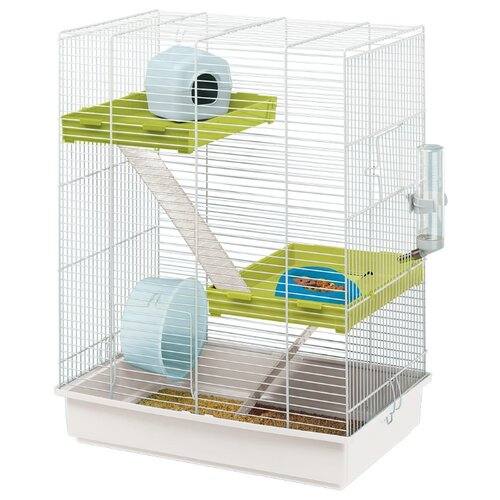 Клетка для грызунов Ferplast Hamster Tris 46х29х58 см белый клетка для грызунов ferplast criceti 9 princess 46х29 5х23 см розовый