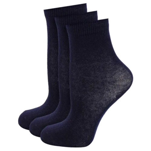 Носки Button Blue комплект из 3 пар, размер 14-16, синий