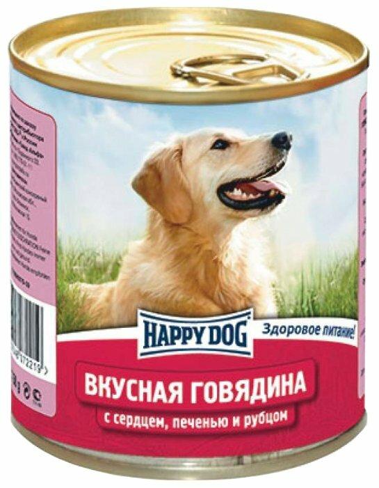Корм для собак Happy Dog NaturLine говядина, сердце, печень, рубец 12шт. х 750г