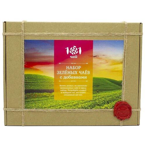 Чай зеленый 101 чай Набор зеленых чаев с добавками ассорти, 240 г недорого