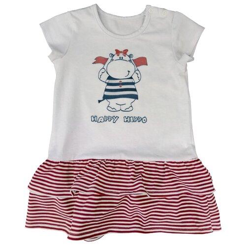 Платье Наша мама размер 92, белый/красный платье oodji ultra цвет красный белый 14001071 13 46148 4512s размер xs 42 170