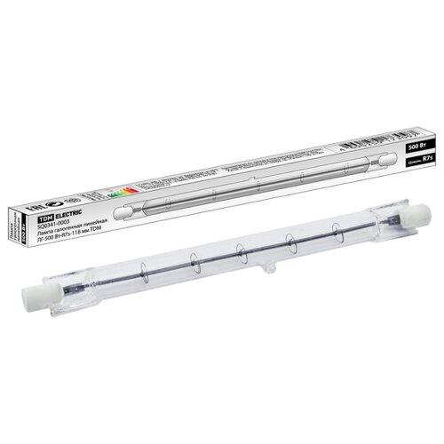 Лампа галогенная TDM ЕLECTRIC R7s, 500Вт лампа энергосберегающая tdm sq0323 0054