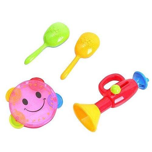 Купить Набор инструментов 327B/Н36875 красный/розовый/желтый/зеленый, Shenzhen Jingyitian Trade, Детские музыкальные инструменты