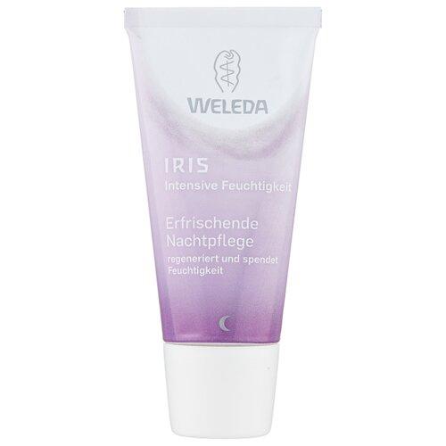 Weleda IRIS Освежающий ночной крем-уход для лица, шеи и области декольте, 30 мл weleda разглаживающий ночной крем уход 30 мл weleda розовая линия