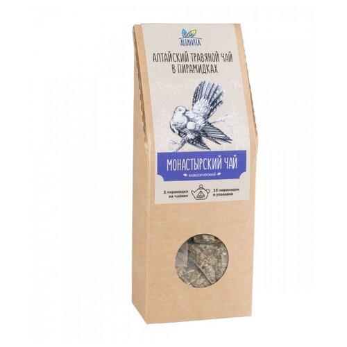 Чай травяной Altaivita Монастырский в пирамидках, 60 г, 15 шт. чай травяной леторос ромашка целебник в пирамидках 20 шт
