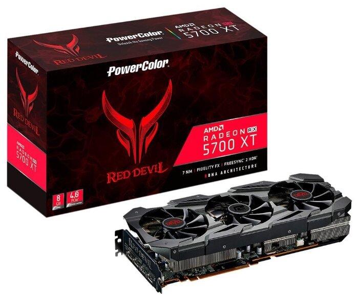 Видеокарта PowerColor Red Devil Radeon RX 5700 XT 1770Mhz PCI-E 4.0 8192Mb 14000Mhz 256-bit HDMI 3xDisplayPort HDCP OC — купить по выгодной цене на Яндекс.Маркете
