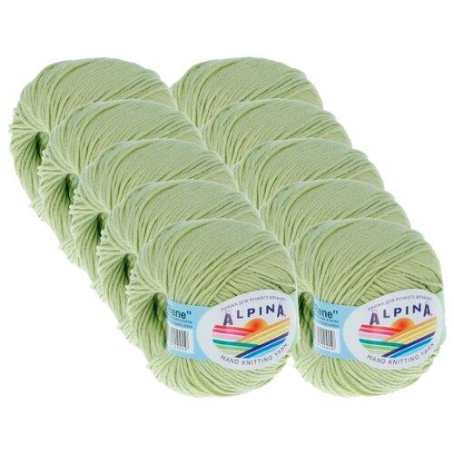 Купить Пряжа Alpina Rene, 100 % хлопок, 50 г, 105 м, 10 шт., №148 св.салатовый