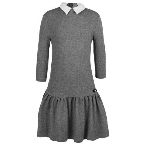 Купить Платье Gulliver размер 158, серый, Платья и сарафаны