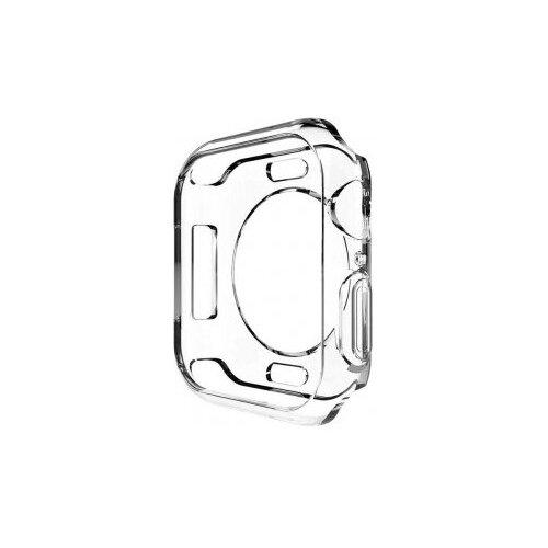 Чехол EVA силиконовый для Apple Watch 44mm прозрачный