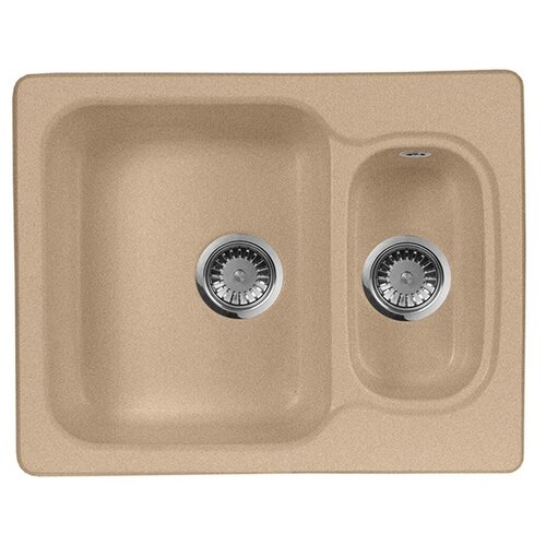 Фото - Врезная кухонная мойка 61 см А-Гранит M-09 песочный врезная кухонная мойка 61 см а гранит m 09 песочный