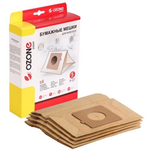 Фото - Ozone Бумажные пылесборники P-07 5 шт. topperr бумажные пылесборники sm5 5 шт