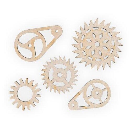 Купить Mr. Carving Набор заготовок для декорирования Шестеренки 1 ВД-523 бежевый, Декоративные элементы и материалы