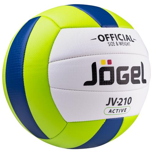 Волейбольный мяч Jogel JV-210 зеленый/темно-синий/белый