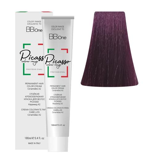BB One Picasso Colour Range Перманентная крем-краска, 100 мл, 7.2 фиолетовый блонд bb one picasso colour range перманентная крем краска 100 мл 8 1 пепельный натуральный светлый блонд