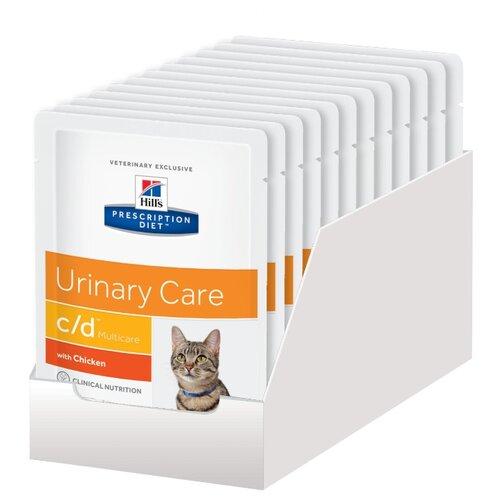 Корм для кошек Hill's Prescription Diet при лечении МКБ, с курицей 12шт. х 85 г (кусочки в соусе)