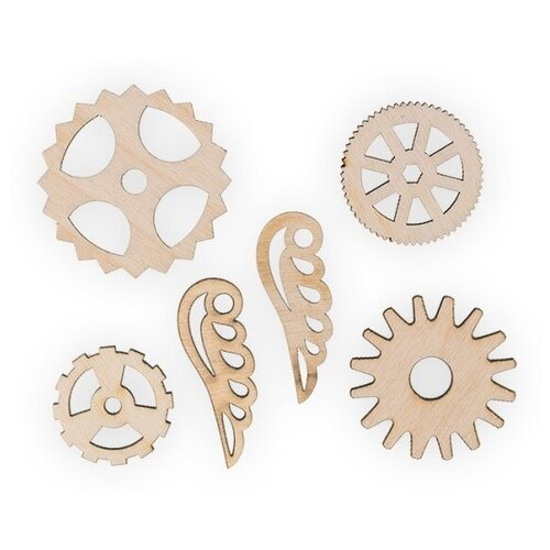 Купить Mr. Carving Набор заготовок для декорирования Шестеренки 2 ВД-523 бежевый, Декоративные элементы и материалы