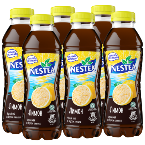 Чай Nestea черный со вкусом Лимона, 0.5 л, 6 шт.