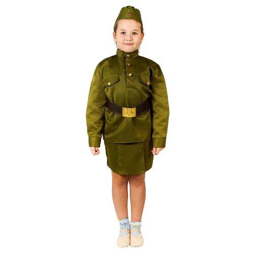 Купить Костюм Бока Солдаточка люкс, хаки, размер 122-134, Карнавальные костюмы