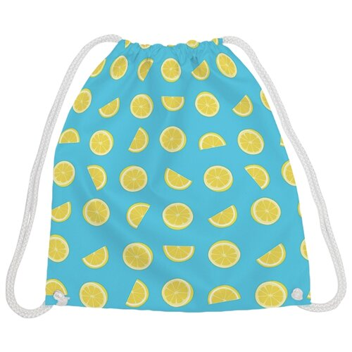 Купить JoyArty Рюкзак-мешок Лимонный витамин (bpa_34730) голубой/желтый, Мешки для обуви и формы
