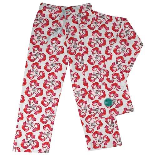 Пижама Marengo Textile размер 146, белый/красный платье oodji ultra цвет красный белый 14001071 13 46148 4512s размер xs 42 170