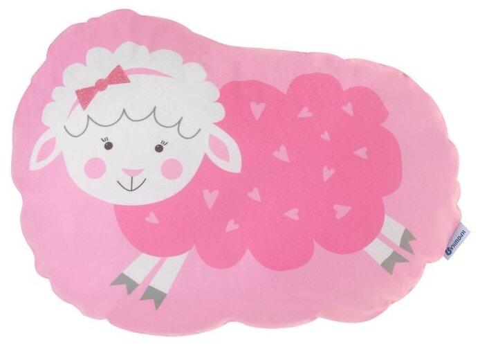 Подушка декоративная Крошка Я Овечка 44 х 36 см розовый