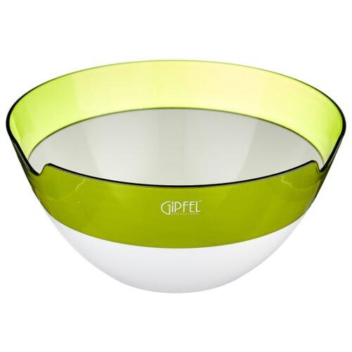 GIPFEL Салатница с двойными стенками Amadeus 28 см белый/зеленый салатница с двойными стенками amadeus 16 3х16 3х8 см зеленая 9441 gipfel