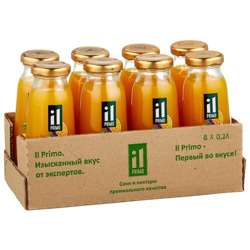 Сок IL Primo мультифрукт, без сахара, 0.2 л, 8 шт.