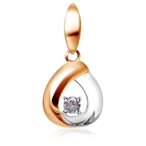 Бронницкий Ювелир Подвеска из красного золота Д0268-034732 бронницкий ювелир подвеска из красного золота д0268 034894