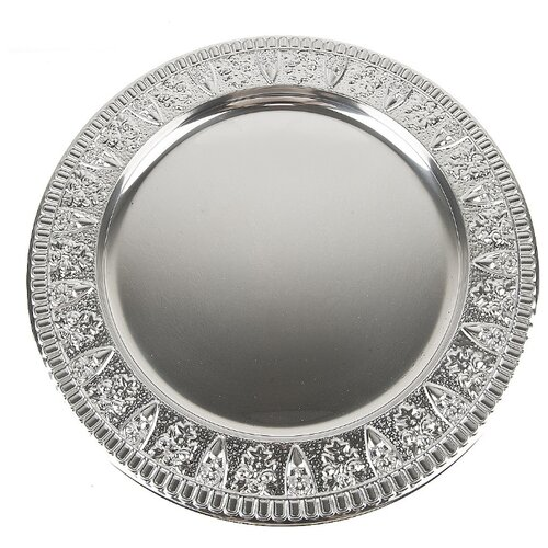 блюдо сервировочное со стеклянным куполом 35 5 см paddle Блюдо сервировочное Серебро, 30x30x1,5 см