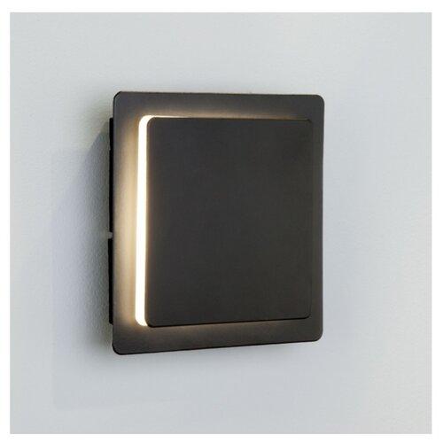 Настенный светильник Eurosvet Screw 40136/1 черный, 6 Вт светильник настенный eurosvet screw 40136 1 6w белый