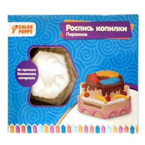Купить Color Puppy Набор для творчества копилка Пирожное (95412), Роспись предметов