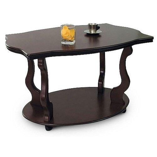 Фото - Столик журнальный Мебелик Берже 3, ДхШ: 94 х 60 см, темно-коричневый подставка мебелик берже 14 темно коричневый