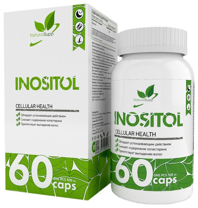 Купить Инозитол NaturalSupp Inositol 60 капс. по низкой цене с доставкой из Яндекс.Маркета
