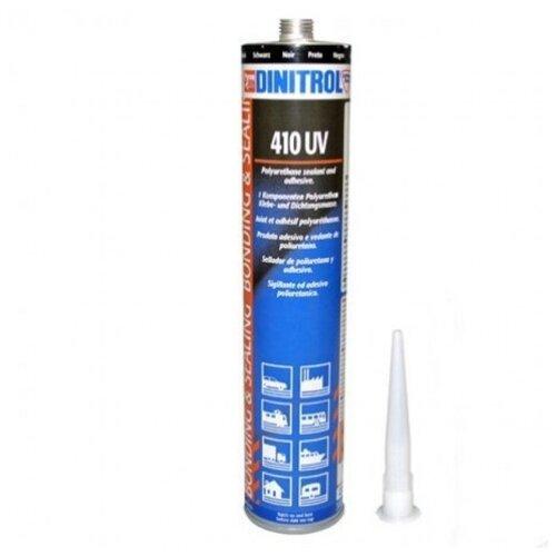 Универсальный полиуретановый клей-герметик для ремонта автомобиля DINITROL 410 UV, 300 мл черный