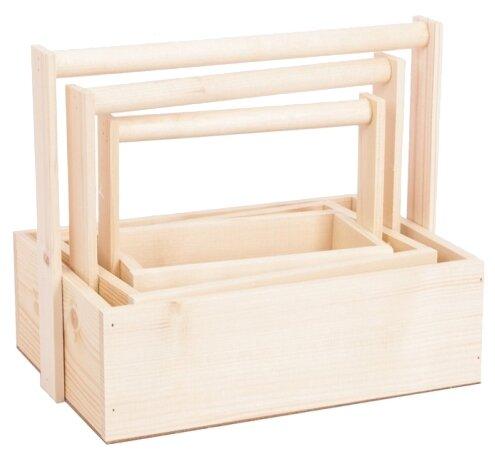 Ящик Дарите счастье набор 3 в 1 с шильдиком и ручкой Любви и счастья 30×20×25 см