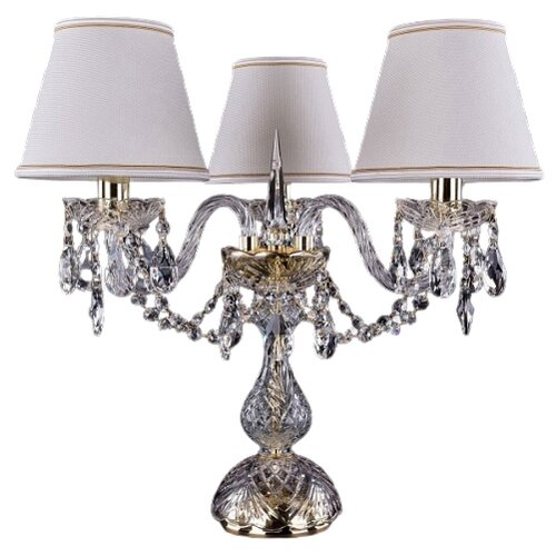Настольная лампа Bohemia Ivele Crystal 1406L/3/141-39 G SH40A-160, 120 Вт настольная лампа bohemia ivele crystal 1406l 3 141 39 g sh13a 160 120 вт