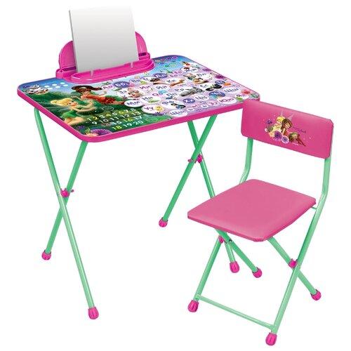 Купить Комплект Nika Феи. Азбука (Д2Ф1) 60x45 см розовый/зеленый, Парты и столы