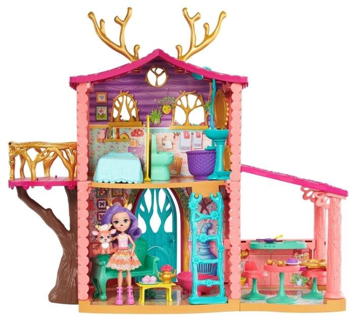 Купить Enchantimals Домик Данессы Оленни FRH50, розовый по низкой цене с доставкой из Яндекс.Маркета (бывший Беру) - Всё лучшее — детям