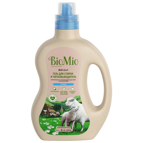 Гель BioMio Bio-2в1 c экстрактом хлопка, 1.5 л, бутылка гель biomio bio sensitive baby экологичный гель для стирки и кондиционер для детского белья 1 л бутылка