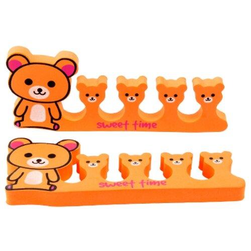 Irisk Professional Разделитель для пальцев Зоопарк Медвежонок оранжевый