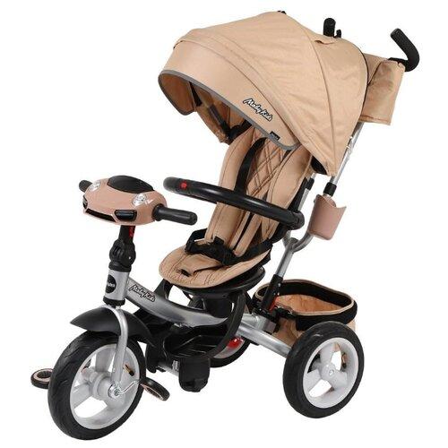 Купить Трехколесный велосипед Moby Kids New 360° 12x10 AIR Car бежевый, Трехколесные велосипеды