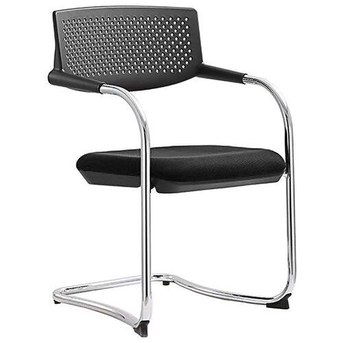 Конференц-кресло Norden chairs Самба black CF, обивка: пластик, цвет: ткань черная/пластик черный