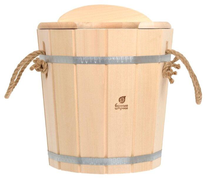 Банные штучки Запарник с пластиковой вставкой с крышкой 12 л
