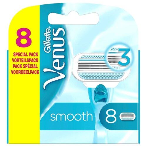 Venus Сменные кассеты для бритвы Venus Smooth, 8 шт.