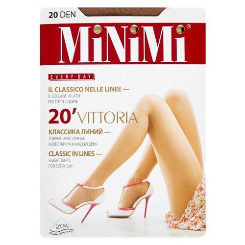 Колготки MiNiMi Vittoria 20 den, размер 3-M, daino (бежевый) колготки minimi tulle magico 20 den размер 3 m daino бежевый