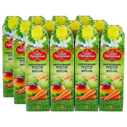 цена на Сок Сады Придонья Морковный Экзотик, без сахара, 1 л, 12 шт.