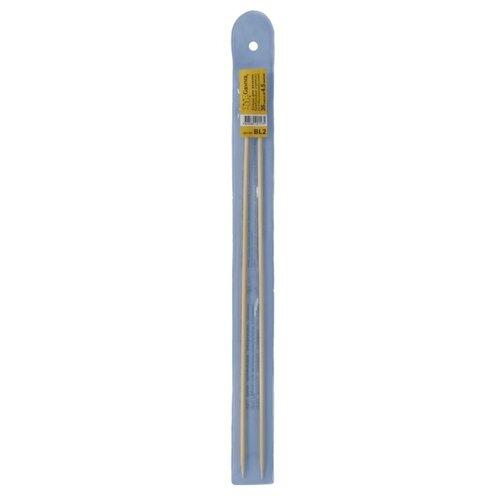 Купить Спицы GAMMA прямые BL2 бамбук d 4.5 мм 35 см - 36 см .