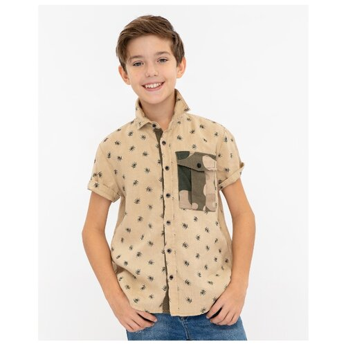 Купить Рубашка Gulliver размер 134, бежевый, Рубашки