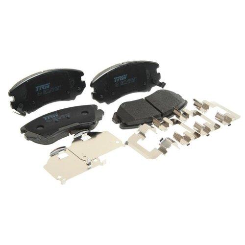 Фото - Дисковые тормозные колодки передние TRW GDB3386 для Kia Sportage, Hyundai Elantra (4 шт.) дисковые тормозные колодки передние trw gdb3286 для toyota highlander lexus rx 4 шт