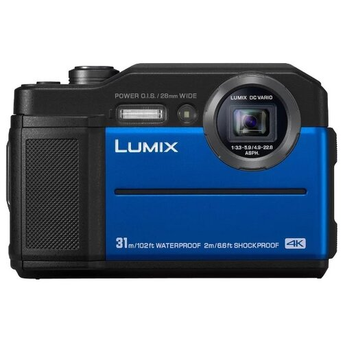Фото - Фотоаппарат Panasonic Lumix DC- FT7 синий аккумулятор panasonic dmw blj31e для lumix s1 s1r